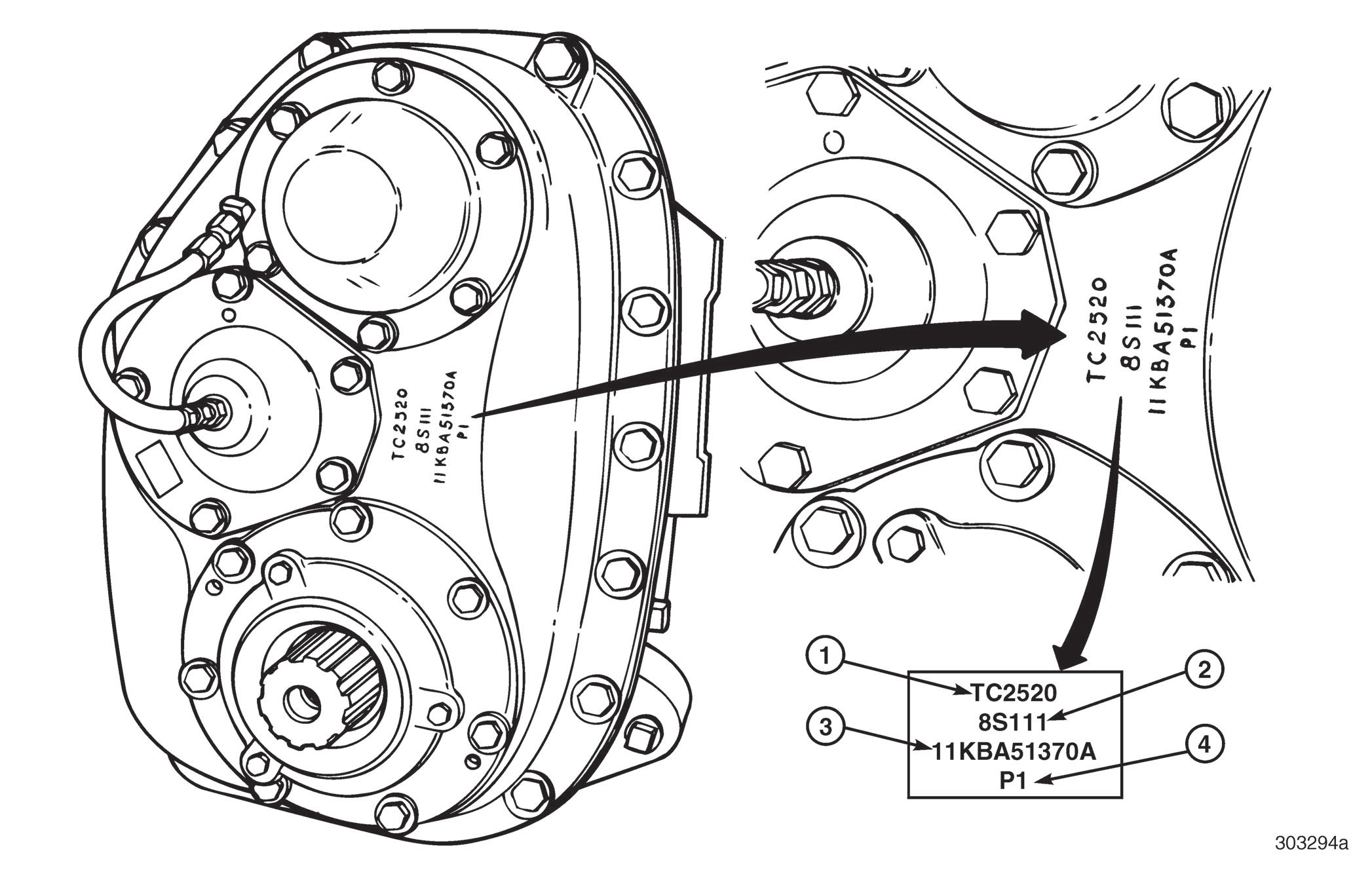 Mack transfer case identification